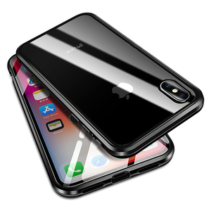 Image 5 - Luxury Case For Apple iPhone XS MAX XS X XR 7 8 Plus 360 Full Protection Case Magnetic Tempered Glass Aluminum Metal Case Cover