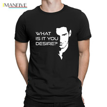 Lucifer Morningstars What Is It You Desire T Shirt New Fashion Fit Weird Leisure Shirts Men Knitted Male Spring Autumn