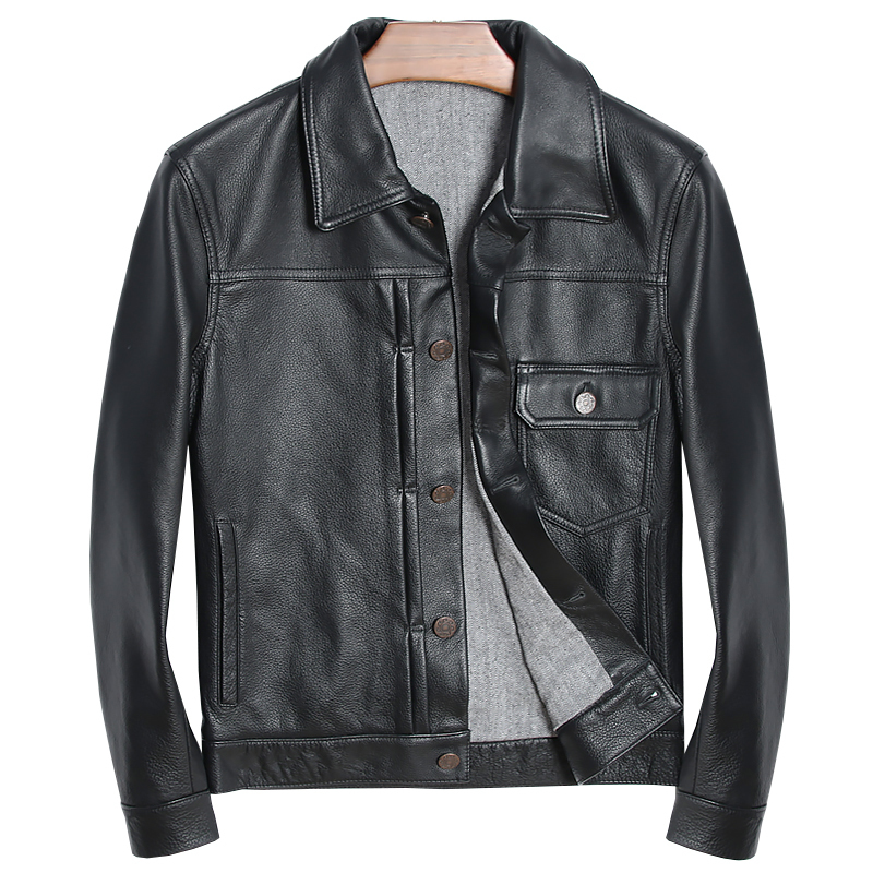 Free Shipping.EMS Brand Leather Clothing,man 100% Genuine Leather Jackets,thick Fashion Slim Cool Cowskin Jacket,sales.style