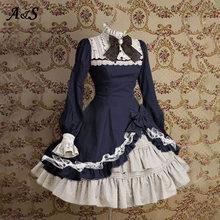Женское платье лолиты anbenser винтажное готическое с квадратным