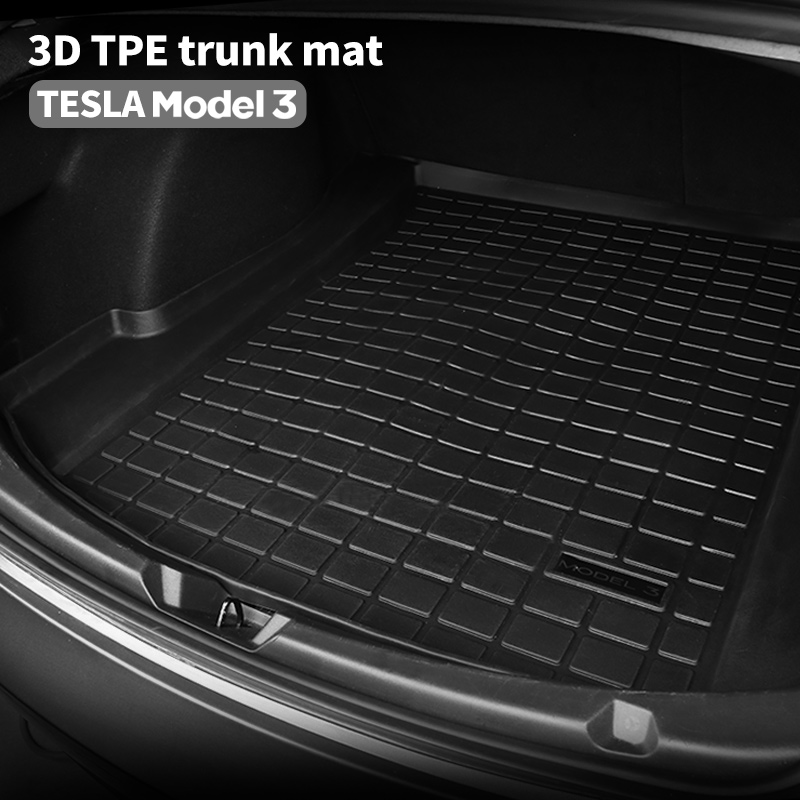 cheapest BAFIRE Waterproof Trunk Mats For Tesla Model 3 Customized Car Rear Trunk Storage Mat Cargo Tray Trunk Protective Pads Mat