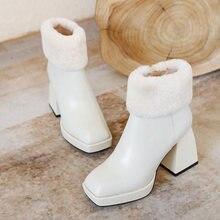 Женские ботильоны из натуральной кожи водонепроницаемые ботинки