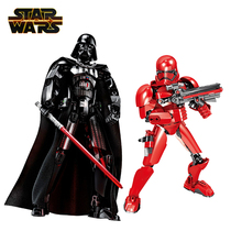 Disney Star Wars Buildable Figures Darth Vader Sith Trooper Stormtrooper Kylo Ren Boba Fett Action Figure Model Toy Kids Gifts saintgi saintgi star wars the force awakens kylo ren action figure pvc 16cm model toys kids gifts collection free shipping
