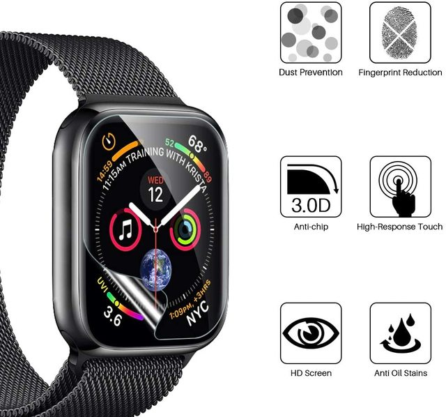 Screen Protector Clear Full Protective Film for iWatch 4 5 6 SE 40MM 44MM Not Tempered Glass for Apple Watch 3 2 1 38MM 42MM 4
