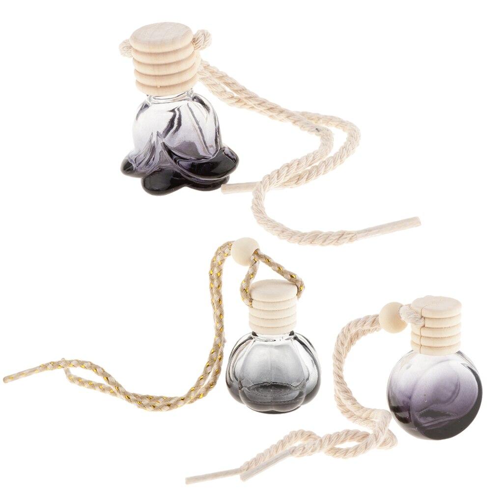 20pcs Car Perfume Bottle Car Hanging Diffuser Bottle, Empty Refillable Bottle Home Car Air Freshener