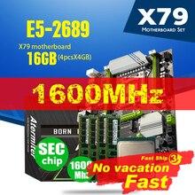 Atermiter X79 توربو اللوحة LGA2011 ATX المجموعات E5 2689 وحدة المعالجة المركزية 4 قطعة x 4GB = 16GB DDR3 RAM 1600Mhz PC3 12800R PCI E NVME M.2 SSD