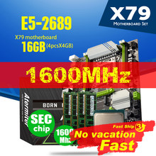 Atermiter X79 Turbo carte mère LGA2011 ATX Combos E5 2689 CPU 4 pièces x 4GB = 16GB DDR3 RAM 1600Mhz PC3 12800R PCI-E NVME M.2 SSD