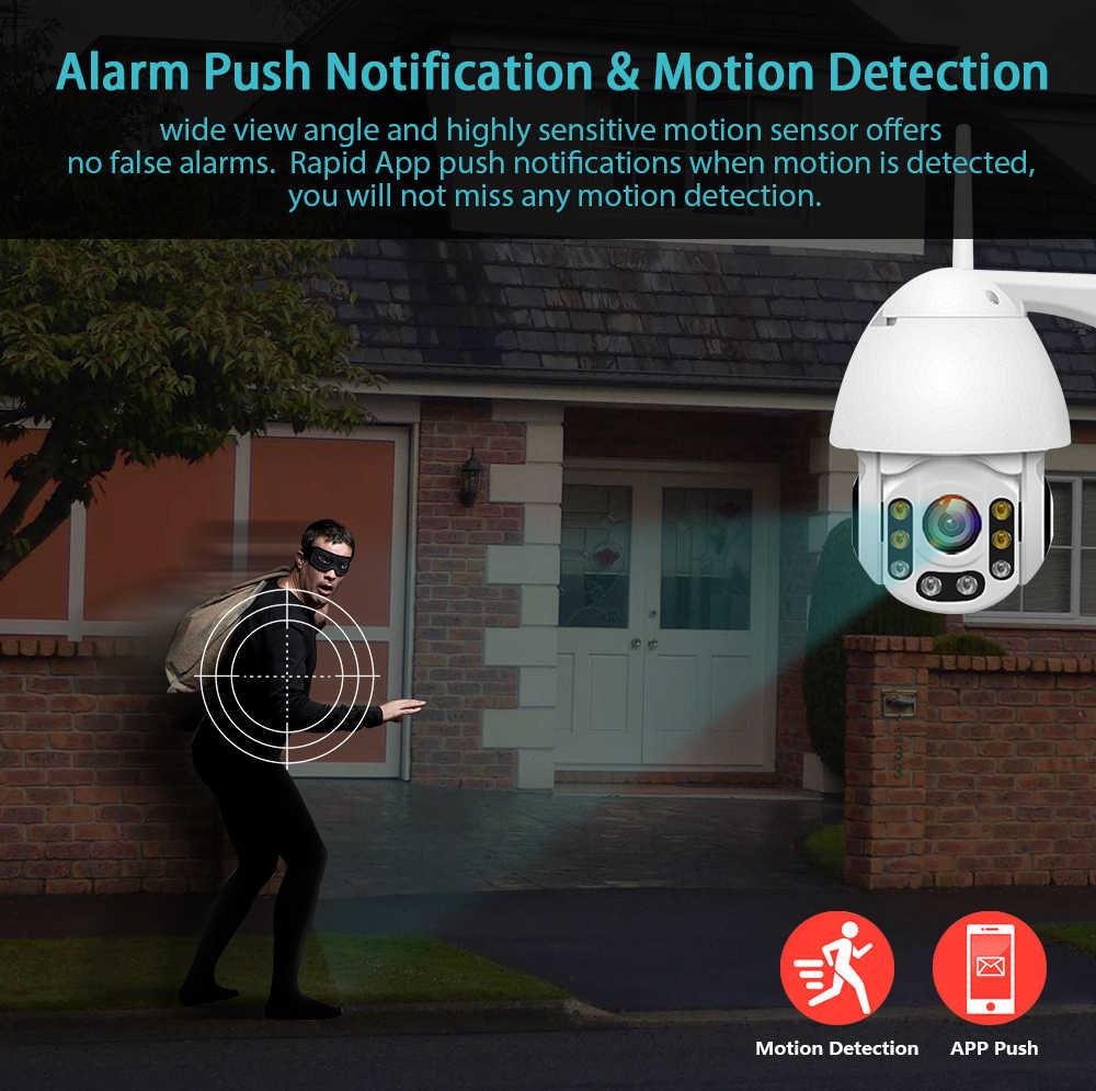 1080P Camera IP Wifi Không Dây Tự Động theo dõi PTZ Speed Dome Camera QUAN SÁT Ngoài Trời Giám Sát An Ninh Máy Camera Chống Thấm Nước