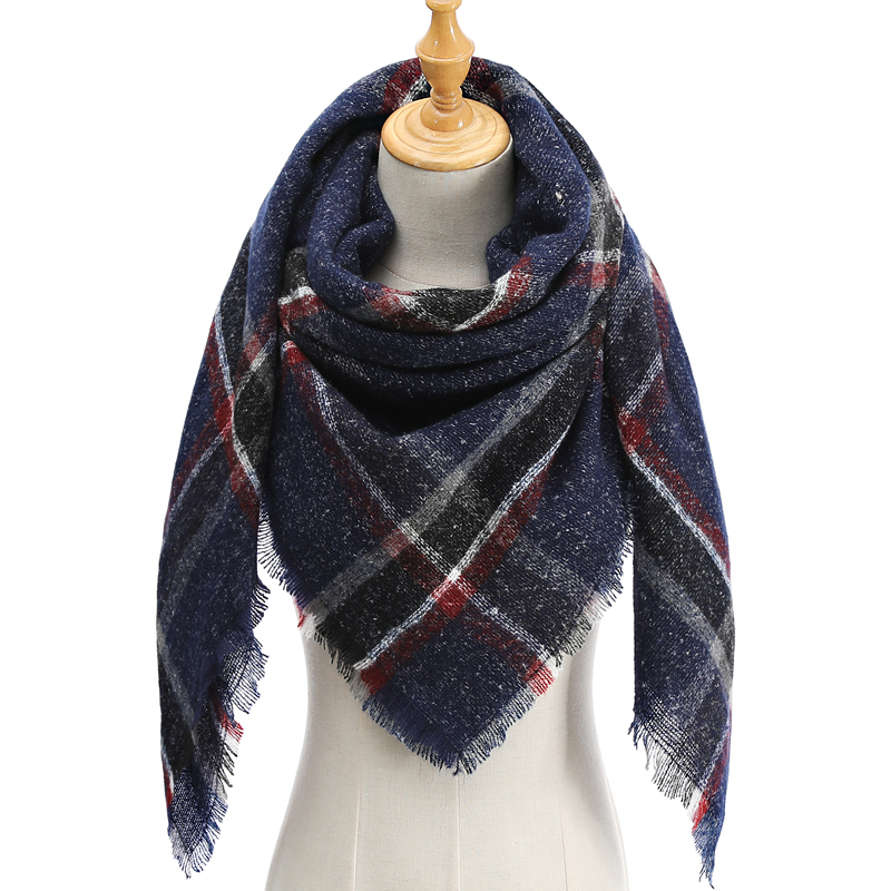 2019 New Design Brand Women   Scarf   Fashion Plaid Winter Cashmere   Scarves   Lady Pashmina Shawl   Wraps   Neck Warm Bandana Foulard