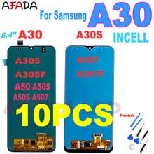 10 шт сенсорный ЖК экран 64 ''для samsung a30 a305/ds
