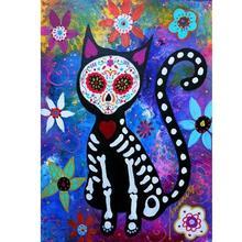 Diamond-Painting DIY Full 5D Cross Stitch Cartoon Cat Craft Art Leisure Kits