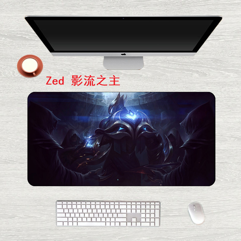 FFFAS Multi Size Gaming Mouse Pad Large Table Mat Handsome Boys Graphic HD Antiskid  M XL Office Pad Fashion Type For LOL Zed