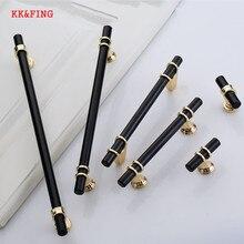 KK& FING, современный минимализм, Длинные полосы, дверные ручки для шкафа, ручки для ящиков, американский черный шкаф, Длинные ручки, мебельная фурнитура