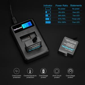 Image 2 - AABAT 001 LCD affichage double canal caméra chargeur de batterie pour Gopro Hero 5 noir caméra batterie chargeur rapide avec indicateur