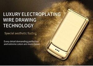 "Image 4 - Original Ulcool V9 Luxury Flip Phone 1.54"" Dual Sim Camera MP3 Bluetooth FM Dialer Anti lost Metal Body Mini Mobile Phone"