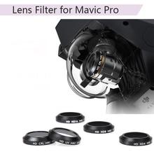 Filtre dobjectif UV CPL ND4 ND8 ND16 pour DJI Mavic Pro platine Drone lentille de caméra filtre de couleur progressif bleu rouge Orange gris pièces