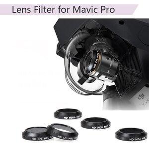 Image 1 - Uv cpl nd4 nd8 nd16 filtro de lente para dji mavic pro platinum drone câmera lente cor gradual filtro azul vermelho laranja cinza peças
