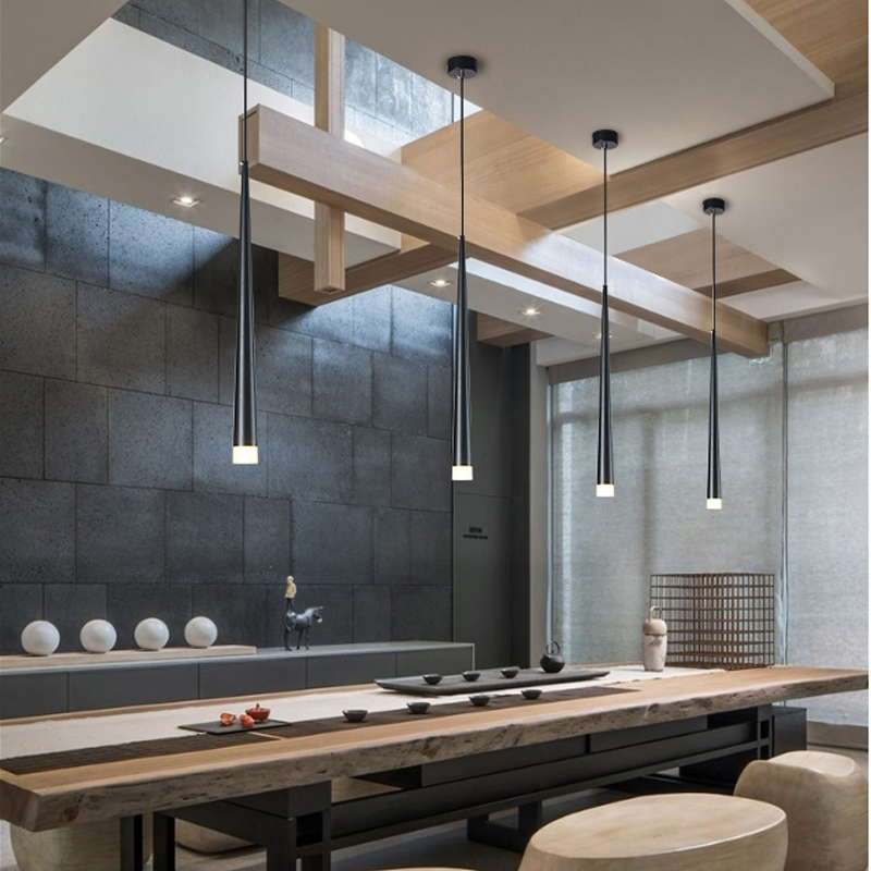cheapest Nordic Design LED Pendant Lights Coffee PVC Pendant Lamp Study Kitchen Fixtures Villa Duplex Apartment Hanging Lamp Indoor decor