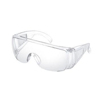Okulary ochronne z osobistym wyposażeniem ochronnym ochrona okularów Clear High Impa tanie i dobre opinie CN (pochodzenie) Z tworzywa sztucznego Unisex NONE 15 2cm 5 5mm Transparent 152 x 140 x 55mm 1 PC
