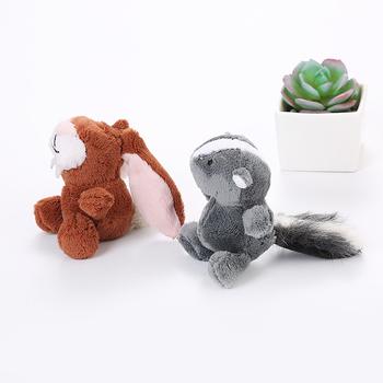 Zwierzęta pluszowe zabawki dla psów uroczy pies gryzaki zwierzęta kot zabawka dla szczeniąt Toot królik wiewiórka zwierzęta żuć psy zęby molowe zabawki odporne na zgryz tanie i dobre opinie Polar CP236358