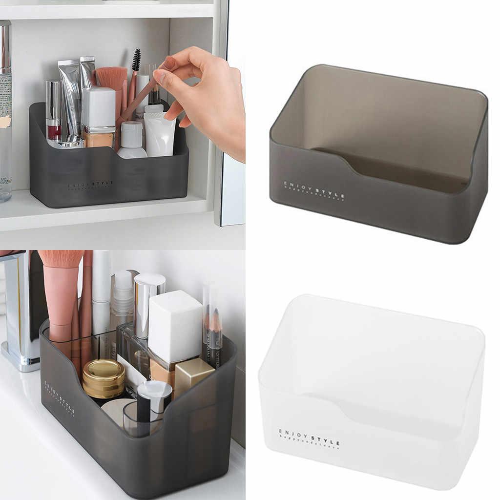 البلاستيك ماكياج المنظم الحمام صندوق تخزين مستحضرات التجميل المنظم سطح المكتب يشكلون مجوهرات صندوق تخزين أشتات الحاويات d2