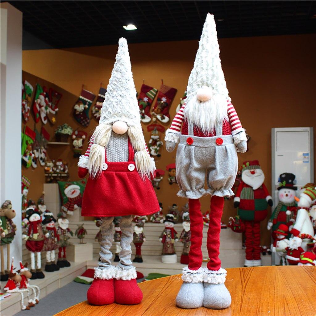 Рождественская туника с длинным рукавом с широкими штанинами шведский Санта гном плюшевая кукла Орнамент Ручной Работы игрушечные эльфы д...