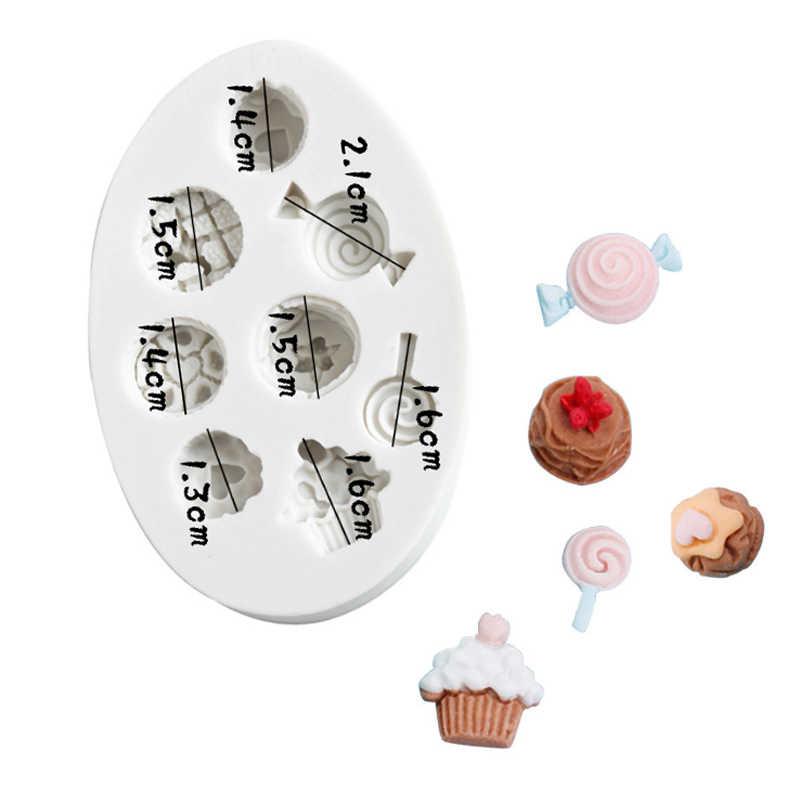 Ice Cream Silicone Cake Mold Fondant Sugarcraft Cupcake Decorating Baking DIY EC