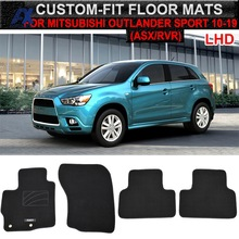 Mats Carpet-Liner Floor-Mat Outlander Sport Mitsubishi Asx Interior for RVR Nylon Black