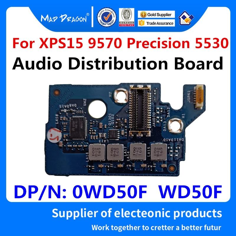 MAD DRAGON Brand Laptop New Audio Module For Dell XPS15 9570 Precision 5530 M5530 DAM00 Audio Jack Board LS-F541P 0WD50F WD50F