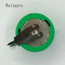 Rainpro 4 cái/lốc 1.2 v 80 mah Ni Mh Ni MH Pin Với Chân Có Thể Sạc Lại Nút Di Động Pin cho hẹn giờ