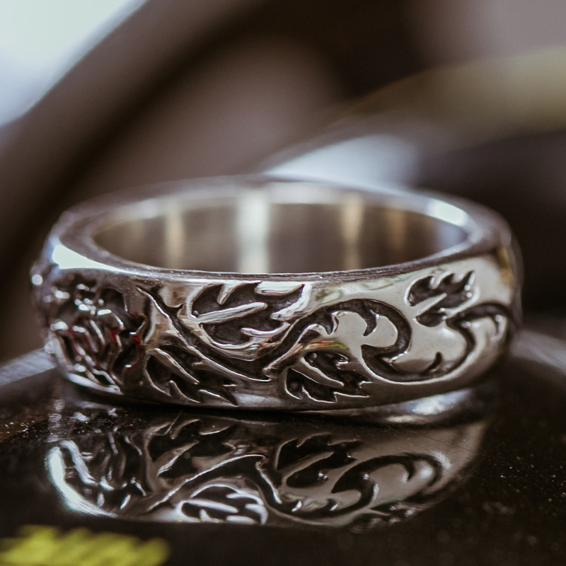 925 Vintage Thai Silver Ring For Man And Women Gift Silver Jewelry Wholesale