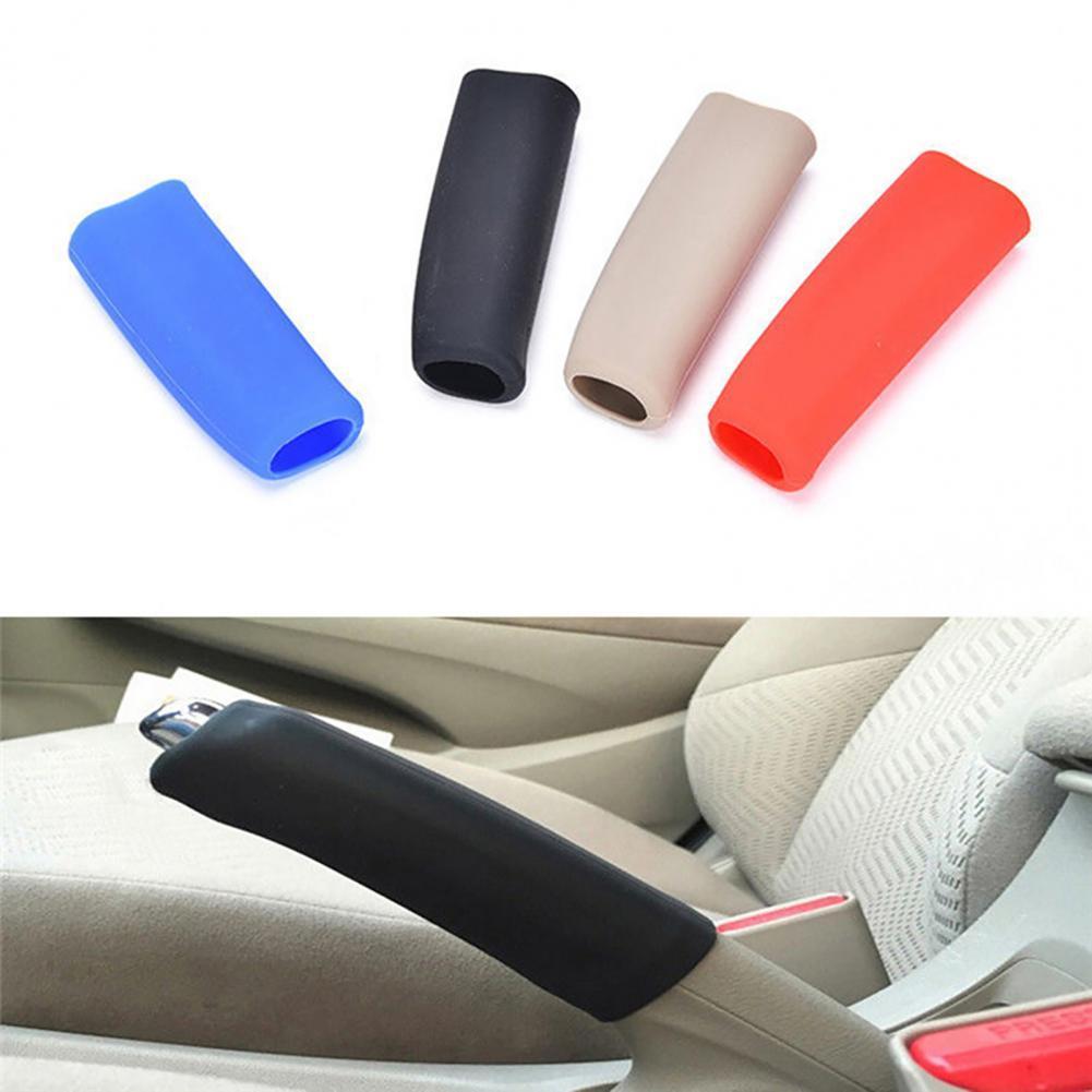 60%  Dropshipping!! Car Handbrake Cover Sleeve Anti-slip Hand Brake Grip Auto Silicone Accessory
