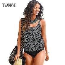 TYAKKVE 2019 Sexy Plus Size Swimwear Women Swimsuit Biquini Beach Print Tankini Brazilian Bikini Female Push Up Bathing Suit 3XL