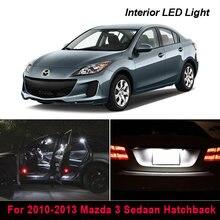 9 pçs xenon canbus led luz kit pacote interior para 2010-2013 mazda 3 sedaan hatchback mapa dome tronco luz da placa de licença