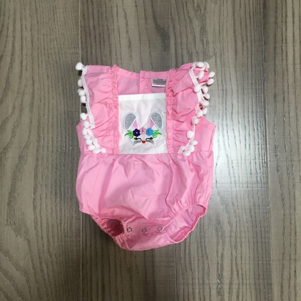 Baby Clothes Baby Easter Bunny Romper Infant Toddler Romper Baby Pink Romper Wholesale