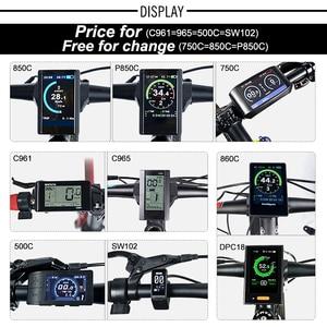 "Image 3 - Bafang 500W 48V Gear מנוע חשמלי אופני המרת ערכת אופניים 20 ""26"" 27.5 ""700C אחורי גלגל Ebike ערכת ללא שפה"