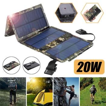 Outdoor Foldable 20W Sun Power Folding Solar Cells Charger USB Solar Panels Folding Waterproof Solar Panel Charger Power