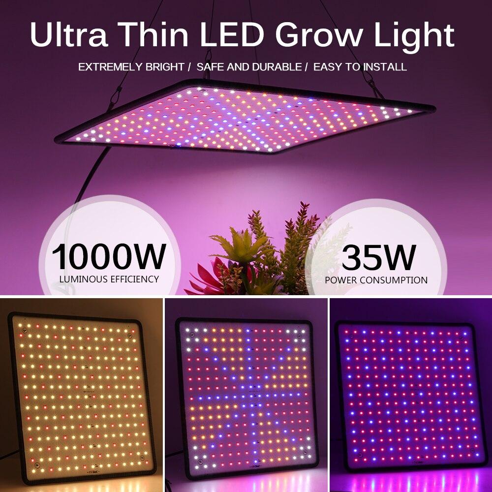 1000W LED Grow Light Panel Full Spectrum Phyto Lamp AC85-240V EU/US Plug For Indoor Grow Tent Plants Growth Light