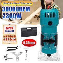 Recortadora eléctrica para carpintería, fresadora de madera, ranuradora de grabado, máquina de tallado, enrutadores para carpintería, 2300W