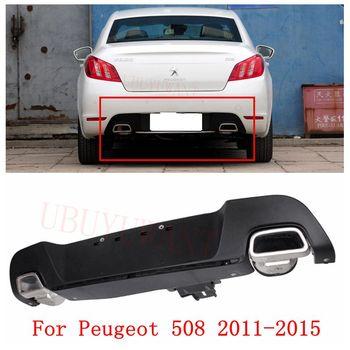 UBUYUWANT Rear Bumper Spoiler For Peugeot 508  2011 2012 2013 2014 2015 Rear Bumper Lip Diffuser Bumpers Protector