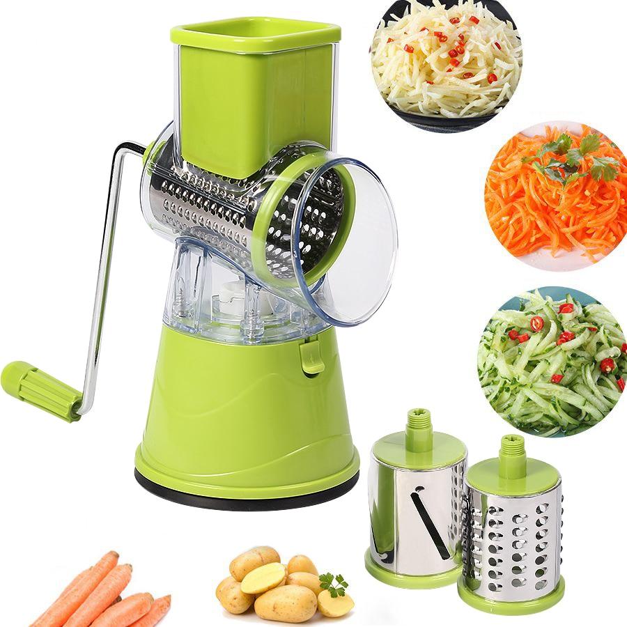マニュアル野菜カッタースライサー多機能ラウンドマンドリンスライサーポテトチーズ果物シュレッダーおろし器キッチンフードプロセッサー