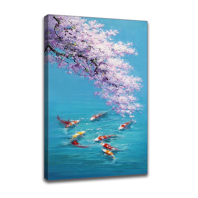 Vagues plage Art affiche vivant R décor oiseaux marins WallBlue mer et ciel nordique paysage toile peinture libre mouette