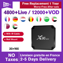 цена на Android 7.1 X96 Mini IPTV France Spain smart 4K Top box with 1 Year IPTV Subscription SUBTV Code Sweden Germany IP TV Europe box
