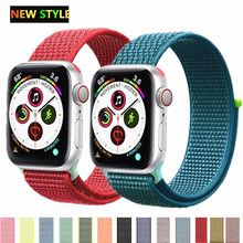 Strap For Apple Watch band sport loop apple watch 5 4 3 band 44mm 40mm iwatch 5 4 42mm  38mm correa Nylon bracelet pulseira nato цена и фото