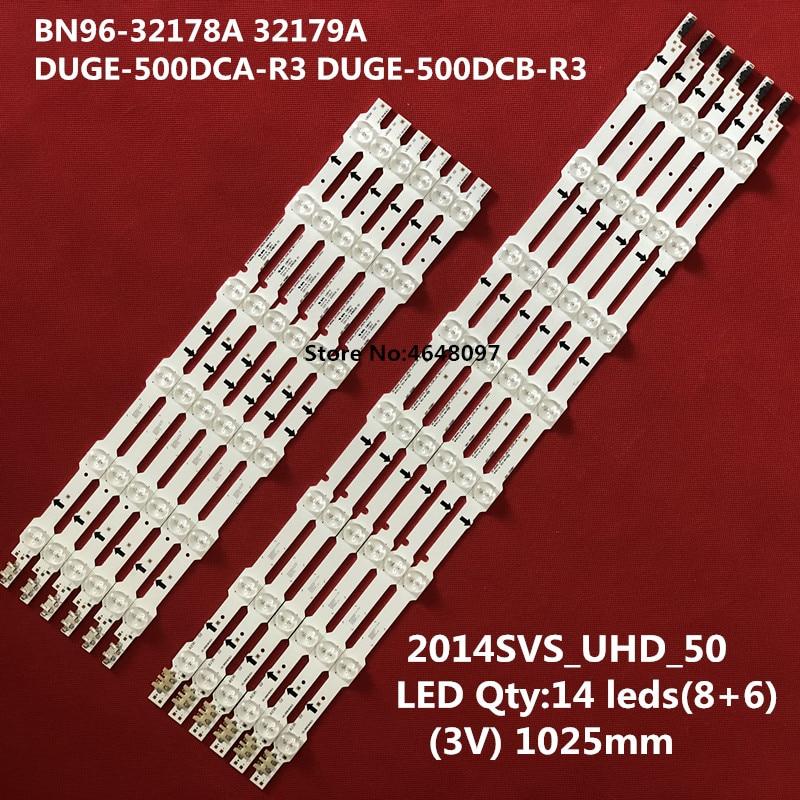 5set=60 PCS LED Backlight Strip For Samsung UE50HU6900 UE50HU7000 BN96-32179A 32178A 2014SVS_UHD_50 DUGE-500DCA-R3 500DCB-R3