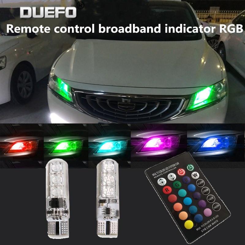 New RGB Colorful Changing T10 W5w LED Canbus Error Free Wy5w 2825 2880sw 168 194 192 501 5w5 501 LED Car Auto Lights