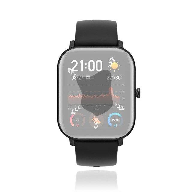 Film hydrogel protecteur de montre plein écran 4 pièces pour Xiaomi huami Amazfit GTS