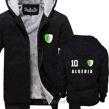 Offre spéciale hiver épais veste manteau Style algérie hommes épais sweats à capuche Jersey Style footballeur numéro tous les 10 Sporter à capuche sbz6278