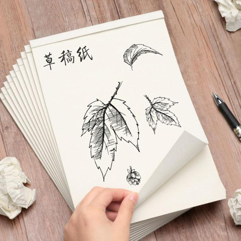 17.5*25 Cm Notebook Blank Inner Page Draft Sketchbook Thickened Beige Paper For Sketching Note Painting 40 Pages