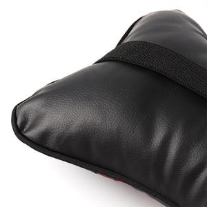 Image 5 - 1 Pcs Auto Universele Veiligheid Comfortabele Kussen Taille Bescherming Hoofd Hals Rest Soft Kussen Seat Pu Kussen Pad Auto Accessoires